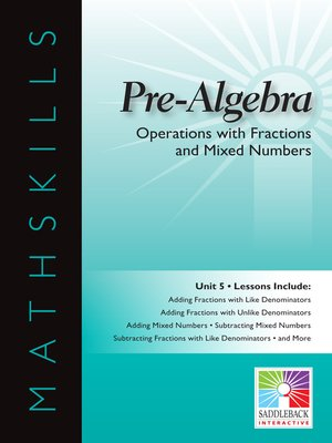 cover image of Pre-Algebra: Operations with Fractions and Mixed Numbers