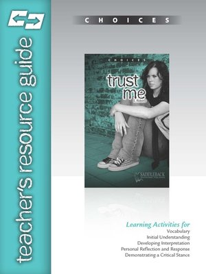cover image of Trust Me Teacher's Resource Guide