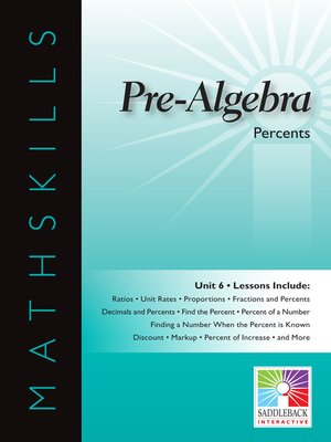cover image of Pre-Algebra: Percents