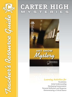 cover image of Art Show Mystery Teacher's Resource Guide