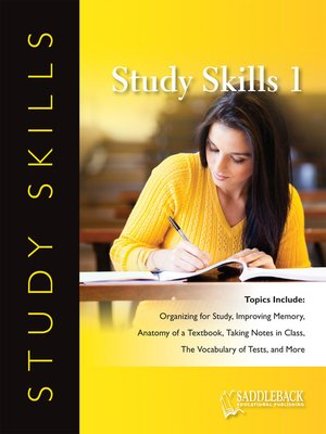 cover image of Study Skills: A Learning Skills Inventory