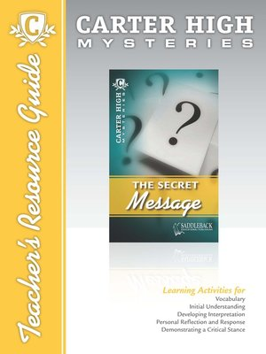 cover image of The Secret Message Mystery Teacher's Resource Guide