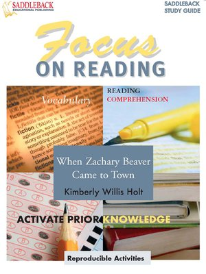 cover image of When Zachary Beaver Came to Town Reading Guide