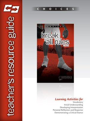 cover image of Break All Rules Teacher Resource Guide