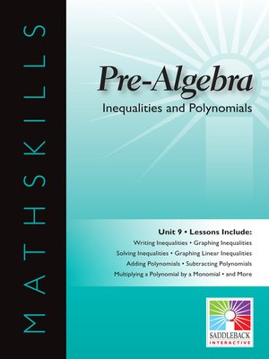 cover image of Pre-Algebra: Inequalities and Polynomials