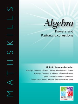 cover image of Algebra 1: Powers and Rational Expressions