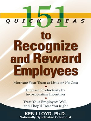 cover image of 151 Quick Ideas to Recgonize and Reward Employees