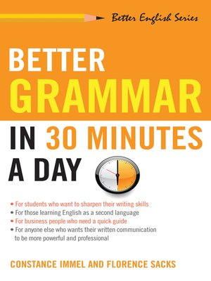 cover image of Better Grammar in 30 Minutes a Day