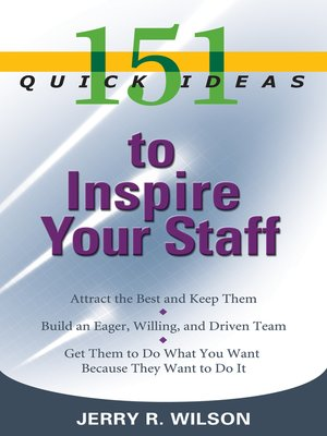 cover image of 151 Quick Ideas to Inspire Your Staff