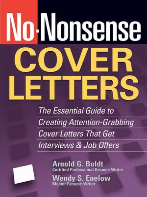 cover image of No-Nonsense Cover Letters