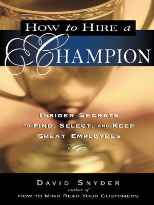 cover image of How to Hire a Champion