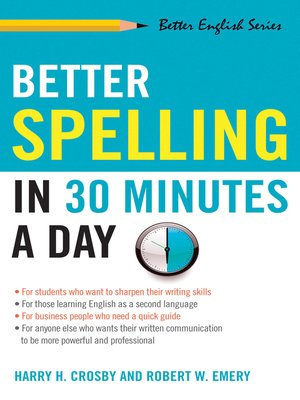 cover image of Better Spelling in 30 Minutes a Day