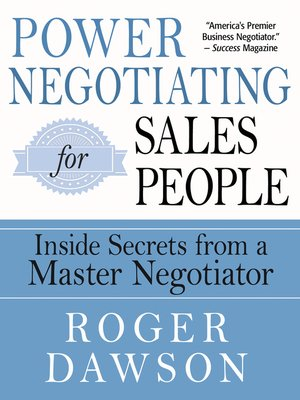 cover image of Power Negotiating for Salespeople