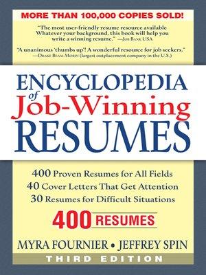 cover image of Encyclopedia of Job Winning Resumes