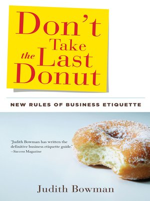 cover image of Don't Take the Last Donut