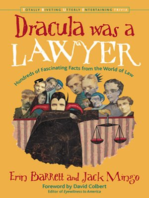 cover image of Dracula Was a Lawyer
