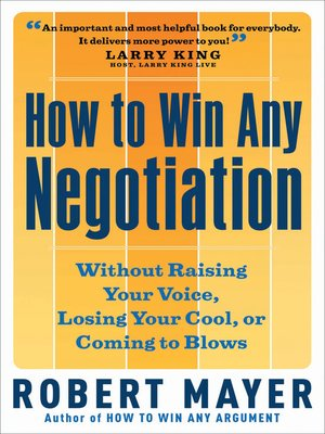 cover image of How to Win Any Negotiation