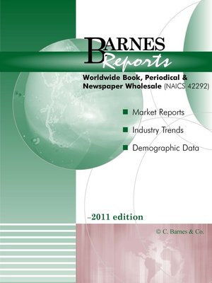 cover image of 2011 Worldwide Book/Periodical/Newspaper Wholesales Report