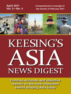 cover image of Keesing's Asia News Digest, April 2011