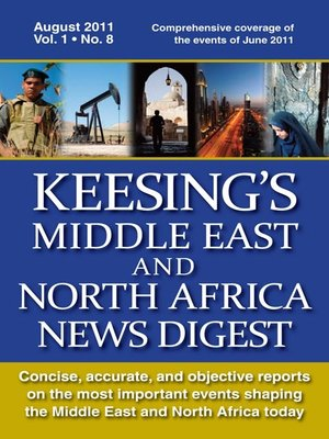 cover image of Keesing's Middle East and North Africa News Digest, August 2011