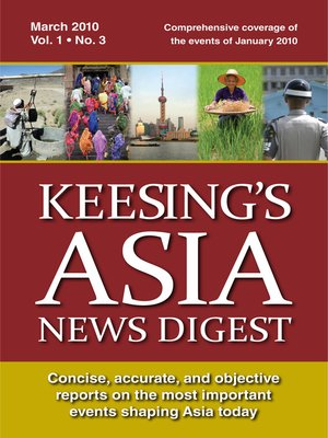 cover image of Keesing's Asia News Digest, March 2010