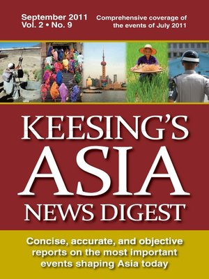 cover image of Keesing's Asia News Digest, September 2011