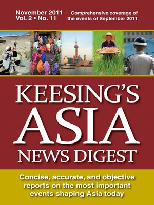 cover image of Keesing's Asia News Digest, November 2011