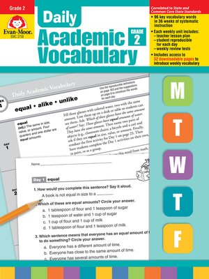 cover image of Daily Academic Vocabulary, Grade 2