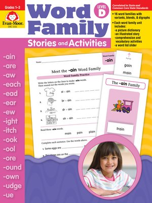 cover image of Word Family Stories and Activities, Grades 1-3 (Level D)