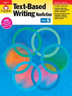 cover image of Text-Based Writing, Grade 5