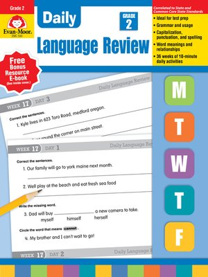 cover image of Daily Language Review, Grade 2