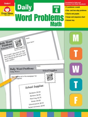 cover image of Daily Word Problems, Grade 4