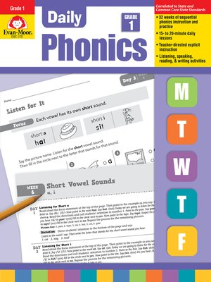 cover image of Daily Phonics, Grade 1