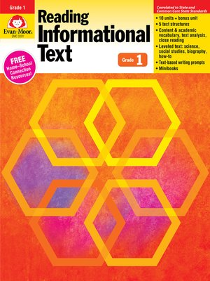 cover image of Reading Informational Text, Grade 1