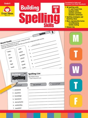 cover image of Building Spelling Skills, Grade 6