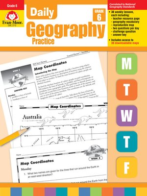 cover image of Daily Geography Practice, Grade 6+