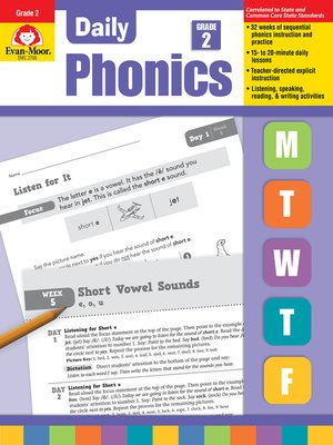 cover image of Daily Phonics, Grade 2