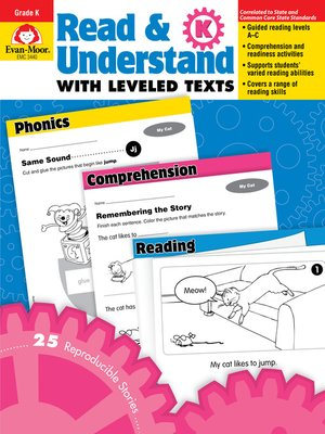 cover image of Read and Understand with Leveled Texts, Grade K