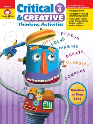 cover image of Critical and Creative Thinking Activities, Grade 4