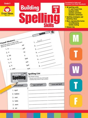 cover image of Building Spelling Skills, Grade 3