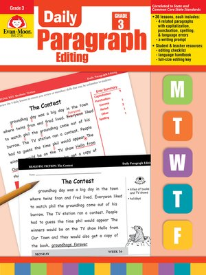cover image of Daily Paragraph Editing, Grade 3