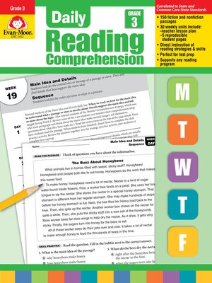 cover image of Daily Reading Comprehension, Grade 3