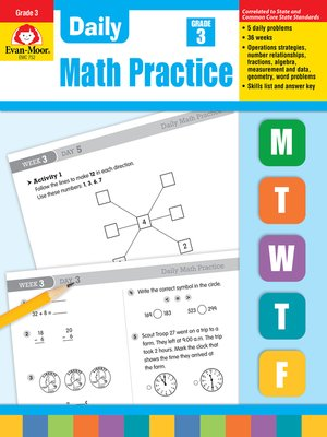cover image of Daily Math Practice, Grade 3