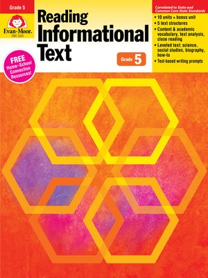 cover image of Reading Informational Text, Grade 5