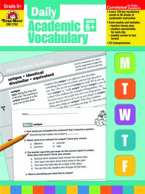 Daily Academic Vocabulary by Evan-Moor Educational