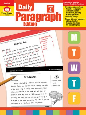 cover image of Daily Paragraph Editing, Grade 4