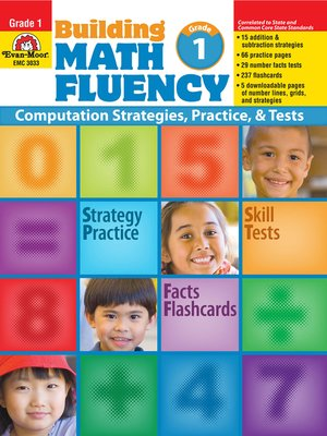 cover image of Building Math Fluency, Grade 1