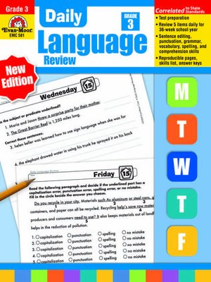 Evan moor educational publisherspublisher overdrive rakuten cover image of daily language review fandeluxe