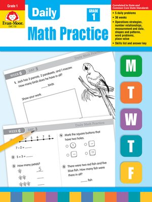 cover image of Daily Math Practice, Grade 1