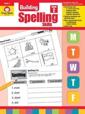 cover image of Building Spelling Skills, Grade 2
